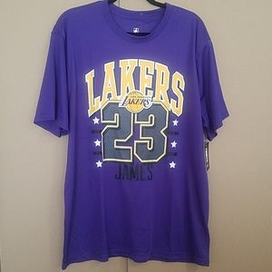 Lakers NBA LeBron #23 S/S Jersey Shirt  sz XL